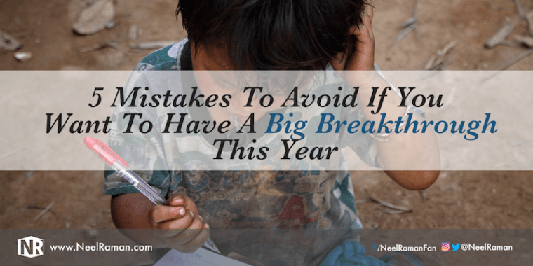 How to have your next big breakthrough