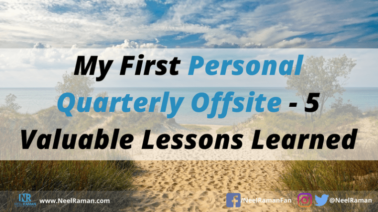 how to have a personal quarterly offsite