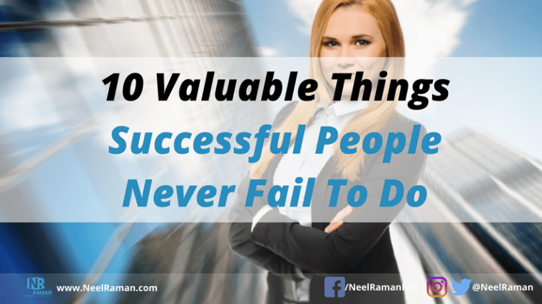 things successful people do differently