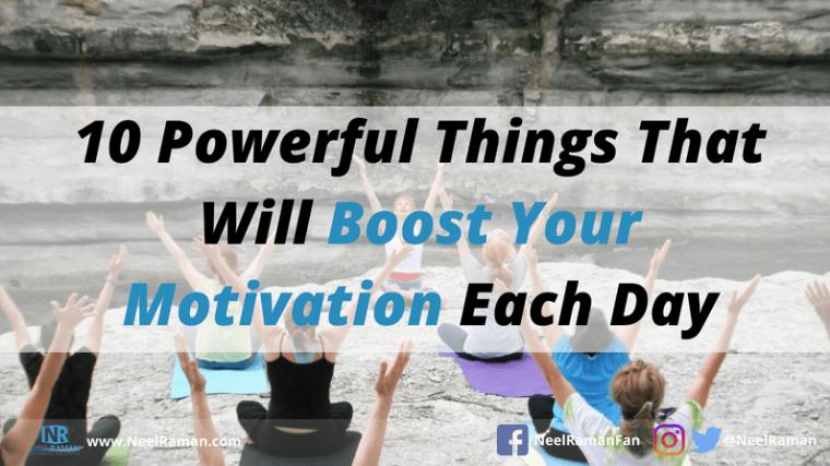 Ways to boost motivation