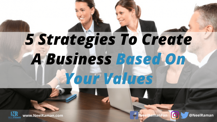 how to start a values-based business