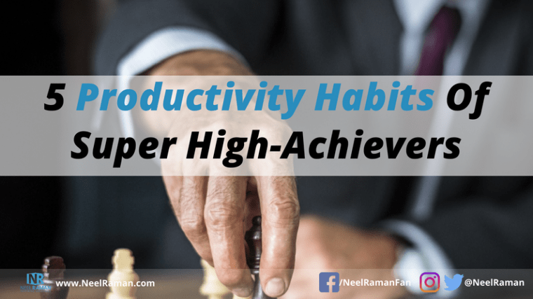 productivity habits of highly effective people